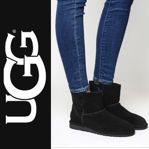 NWOT Authentic UGG Black Unlined Mini Boots